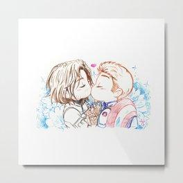Kiss Kiss (Cute Cute) Metal Print