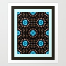 Stained Glass Starburst Pattern Art Print