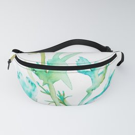 Botanical Watercolor, Vibrant Fanny Pack
