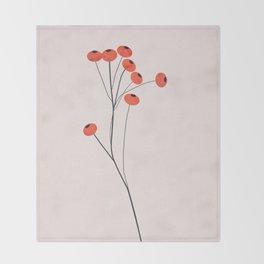 Winter fruits Throw Blanket