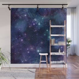 Awash With Stars ,Galaxy Blue Sky , Planet Gift Lover galaxy artwork Wall Mural