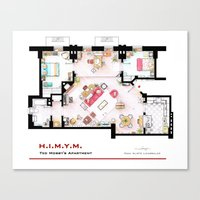 himym Canvas Prints featuring Ted Mosby apartment from 'HIMYM' by nikneuk