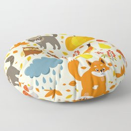 Woodland Animals Floor Pillow
