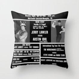 #10-B Memphis Wrestling Window Card Throw Pillow
