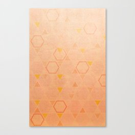 Rose Gold Abstract Canvas Print