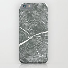 Locust Tree ring image, woodcut print iPhone Case