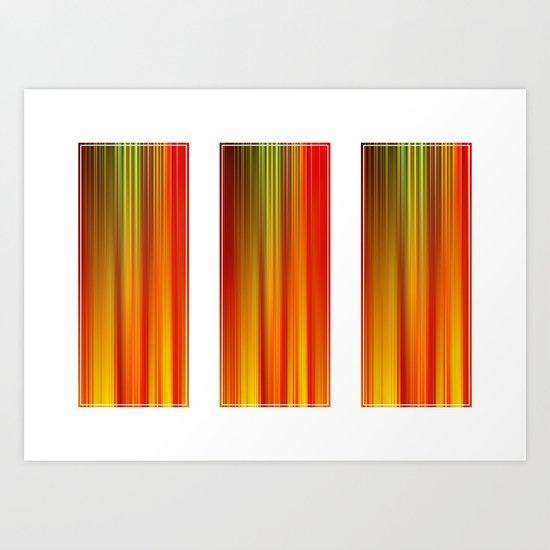 Heat In Three Art Print