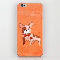 frenchie iPhone & iPod Skins featuring Frenchie by 52 Dogs
