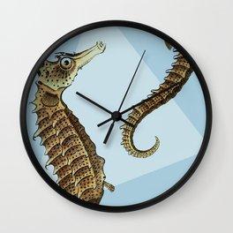 Seahorse Triangle Geometric Modern Beach House Colorful Wall Clock
