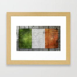 Flag of Ireland Framed Art Print