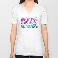 vintage floral V-neck T-shirts featuring Vintage Floral by Jacqueline Maldonado