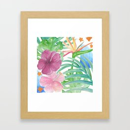 Malia's Tropical Print Framed Art Print