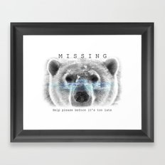 Polar Bear MISSING Framed Art Print