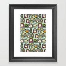veggie sushi mint Framed Art Print