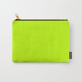 Bitter lime neon green yellow Carry-All Pouch