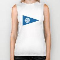minneapolis Biker Tanks featuring minneapolis city flag united states of america Minnesota by tony tudor