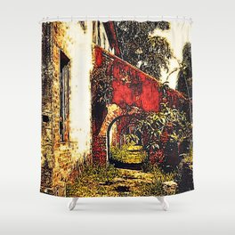 Under the stairwell - Florest Navarro de Andrade Shower Curtain