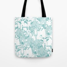 just goats teal Tote Bag