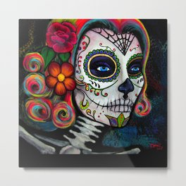 Sugar Skull Candy Metal Print