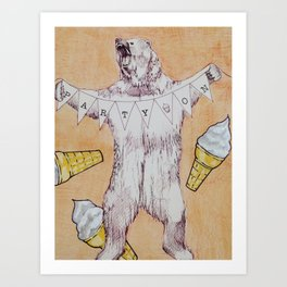 Party on Bear Art Print