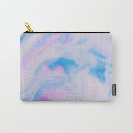 Cotton Candy Pink and Blue Abstract Girly Marble Pattern Carry-All Pouch