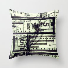 Muni Breaks Mixed Media by Faern Throw Pillow