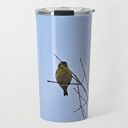 Little Yellow Bird Tree Bare Branches Travel Mug