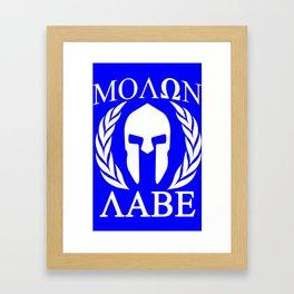Molon labe grunge spartan Framed Art Print