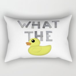 WHAT THE DUCK written with duck tape Rectangular Pillow