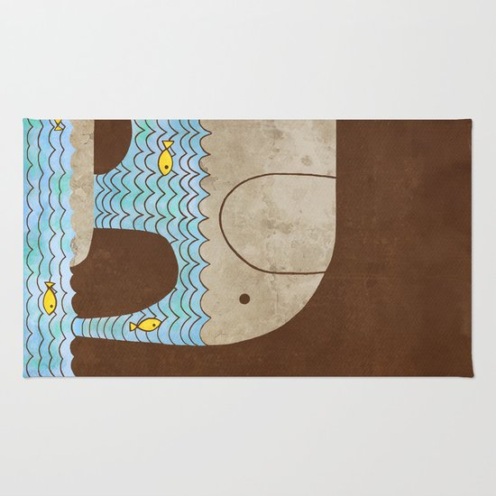 Thirsty Elephant - colour option Rug