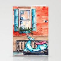 vespa Stationery Cards featuring Vespa by Alla Lsk