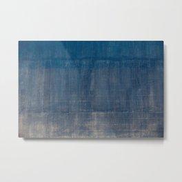 vintage blue wall Metal Print