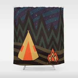 OVERN/GHT Shower Curtain