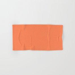 Living Coral Color Polkadots Hand & Bath Towel