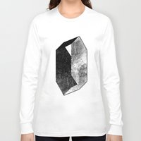 mineral Long Sleeve T-shirts featuring Moon Mineral by Mood/Wood