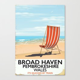 Broad Haven, Pembrokeshire,wales seaside Canvas Print