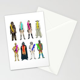 Naughty Lightsabers - Light Stationery Cards
