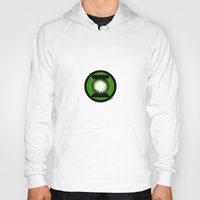 green lantern Hoodies featuring Green Lantern by Electra