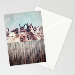 ALPACA ALPACA ALPACA & NEVER STOP EXPLORING - HAPPY FAMILY - Stationery Cards