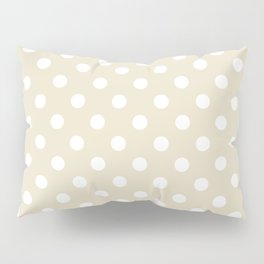 Small Polka Dots - White on Pearl Brown Pillow Sham