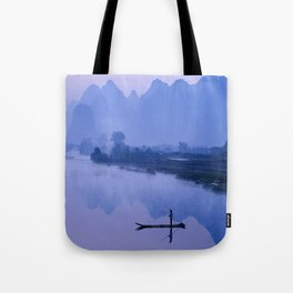 LI RIVER AT DAWN-GUILIN CHINA Tote Bag