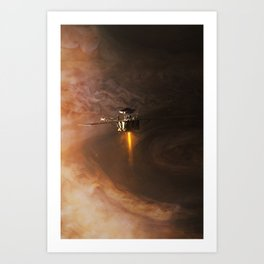 Juno - Orbit Insertion Burn Art Print
