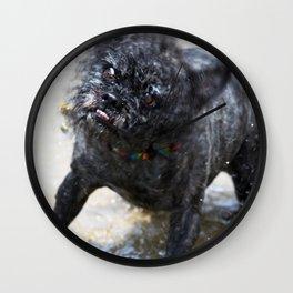 Dog Ball Water Wall Clock