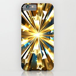 Ball of Gold Stars iPhone Case