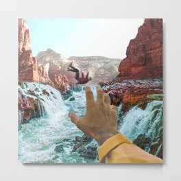 Falling in the River-Surreal Desert-Southwest Vibes Metal Print