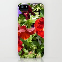 Agriculture planting plants and garden flowers iPhone Case