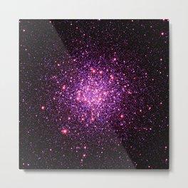 Pink Purple Stars Metal Print
