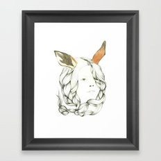 Gazelle Girl Framed Art Print