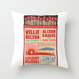 Willie Nelson And Family   Throw Pillow