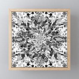 distorted squares, b&w Framed Mini Art Print